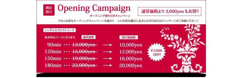 オープニング割引きキャンペーン[通常価格より3,000円もお得!!]